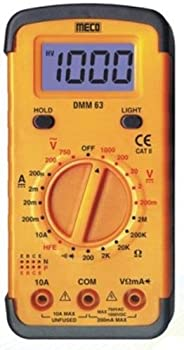 Meco DMM63 Yellow Digital Multimeter
