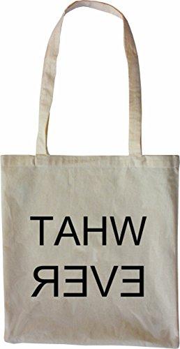 Mister Merchandise Tasche What Ever Stofftasche , Farbe: Schwarz Natur