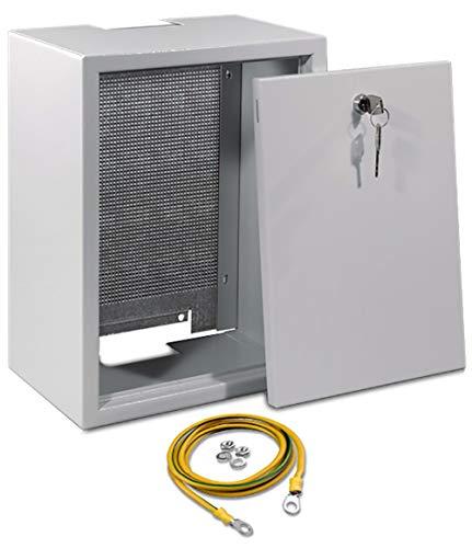 SKT Antennenschrank mit Metall-Lochplatte 30 x 40 x 20 cm, QAS3045
