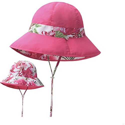 SLBGADIEME Double Sided Fisherman Boonie Fishing Hat spring and summer Outdoor Casual Hiking Camping Gardening Sunscreen Quick Dry Ultra-thin Sun Cap(Flower,Pink)