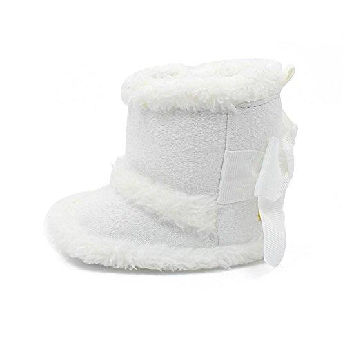 Itaar Baby Stiefel Schneestiefel Mädchen Winter warm Säuglingskleinkind mit schönem Bogen Design und weicher rutschfester Sohle für Babys 0-18 Monate
