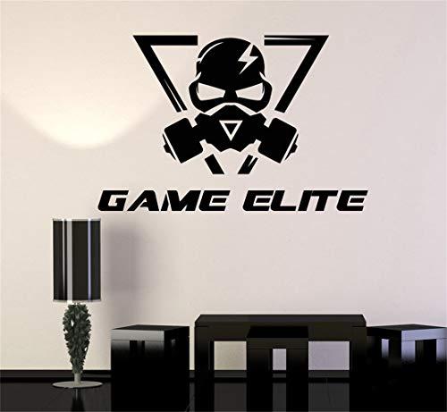 wandaufkleber 3d effekt Wandaufkleber Zitat Wandtattoo Lustige Tapete Entfernbare Vinyl Spiel Elite Videospiel gaming Teen Zimmer