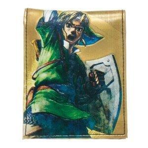 Legend of Zelda - Portafoglio con stampa, motivo: Link, colore: Oro, 19 cm