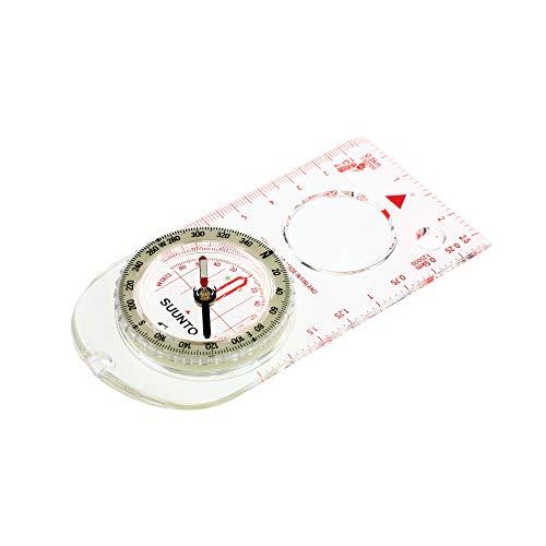 SUUNTO Linealkompass A-30, 360-Grad-Einteilung, Lupe, Deklinationsskala, nachleuchtende Markierungen, Kordel -