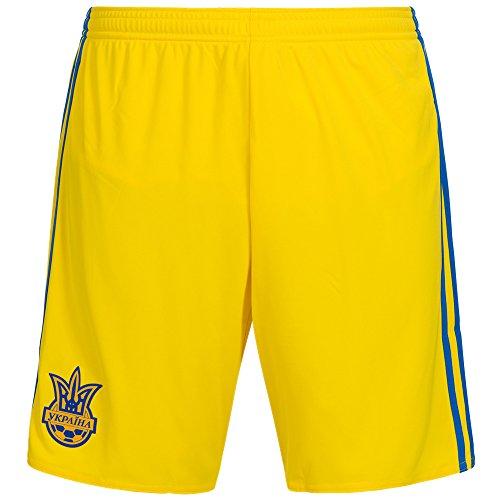 Adidas-Pantaloncini da uomo FFU Home l' Hort domestico della squadra nazionale Ucraina, Uomo, FFU Home Short Die Heimshort der ukrainischen Nationalmannschaft, giallo, M