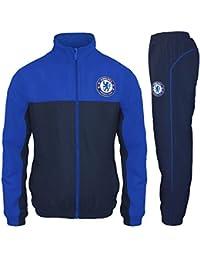 74d26efaf Chelsea FC Official Football Gift Mens Jacket   Pants Tracksuit Set Blue