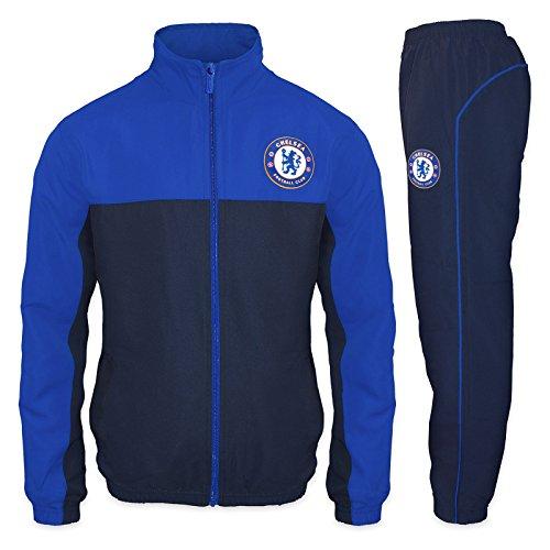Chelsea FC - Herren Trainingsanzug - Jacke & Hose - Offizielles Merchandise - Geschenk für Fußballfans - Blau - L