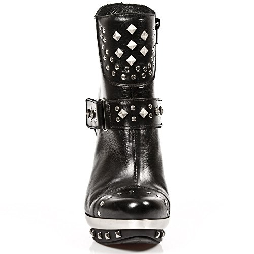 New Rock Womens M.PUNK003-C1 Nomada Leather Boots BLACK, BLACK