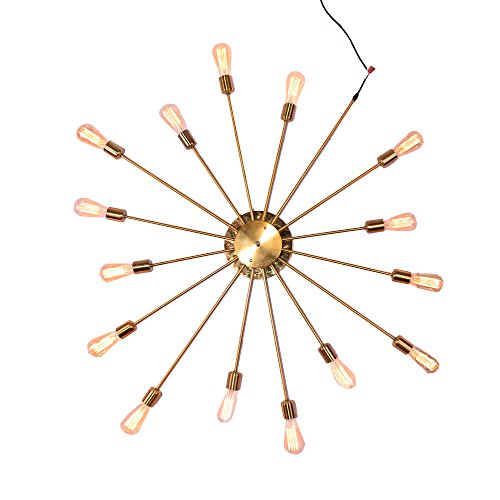 NIUYAO Lampe Applique Murale Grande Eclairage Intérieur Métal Moderne Wall Light Rétro 15 lights Eclairage Décorative-Or