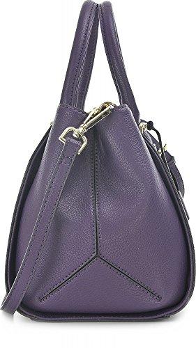 Guess Sissi Box Satchel, Sacs à Main Femmes, Taille Unique Violet