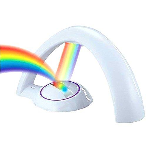MyLifeUnit - Lámpara de noche con proyector de luz led multicolor. Efecto arcoíris.