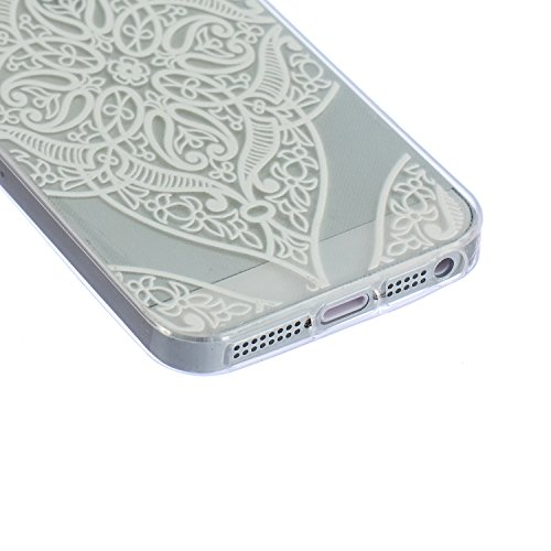 iPhone 5S Case,iPhone 5 Cover - Felfy Apple iPhone 5/5S Ultra Slim Dünnen Weiche Soft Gel romantisch Mond Lichter Liebhaber Muster TPU Silikon Back Bumper Hülle Zurück Tasche Etui Protective + 1x Schw Klar Love Heart