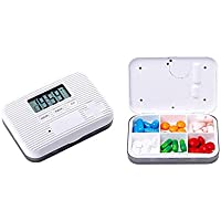 Kobwa Alarm Pille Box organizer mit 5 Alarm Erinnerungen, Digital Pille Fall Box preisvergleich bei billige-tabletten.eu