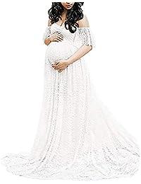 ed4210799 Vestido De Maternidad Elegantes Vestidos De Mujer para Modernas Casual Boda  Festivos Fuera del Hombro Vestidos De Novia Estilo…
