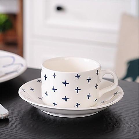 GUJJ Minimalistische Kaffeetasse Keramik Becher Mit Speisen Im Restaurant Continental Cafe Home Kaffee Setzt, Sterne Tasse Kaffee