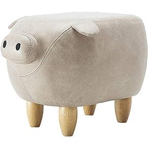 YUMUO Kunstleder Schwein Ottoman,fußhocker Moderngestaltet Hocker Beistelltisch Hocker Stuhl Vielseitig Für Zuhause Garten Wohnzimmer A