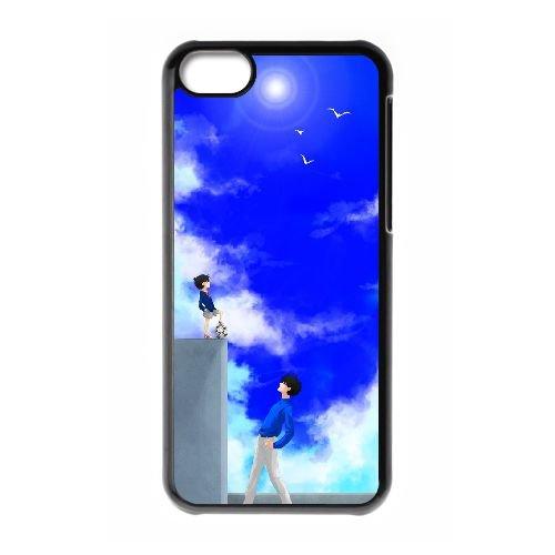 Detective Conan coque iPhone 5C Housse téléphone Noir de couverture de cas coque EBDXJKNBO10136