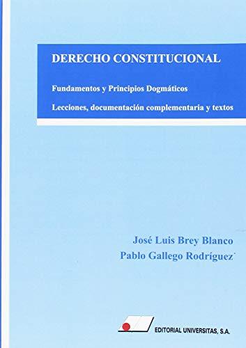DERECHO CONSTITUCIONAL. FUNDAMENTOS Y PRINCIPIOS DOGMÁTICOS.: LECCIONES, DOCUMENTACIÓN COMPLEMENTARIA Y TEXTOS. por José Luis Brey Blanco