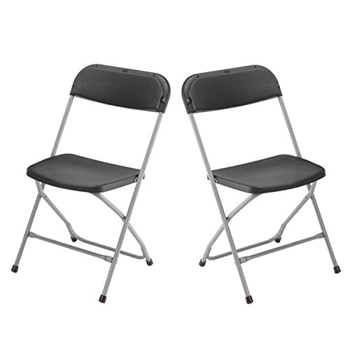 2x-Klappstuhl-Gartenstuhl-Campingstuhl-Gastronomie-Bistro-Stuhl-Sthle-schwarz