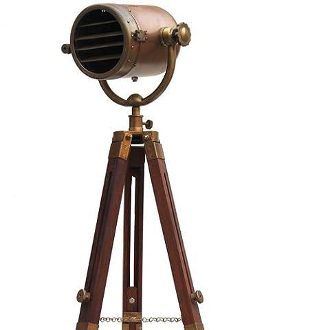 Nautical Antique Industrial Photography Studio Vintgae Spotlight Marine Tripod