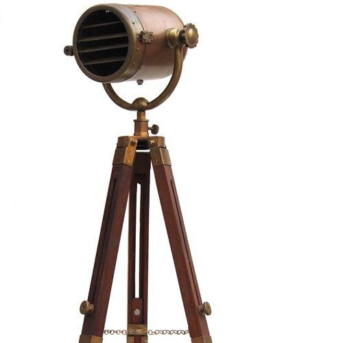 Envejecido Industrial (Nautical estudio de fotografía trípode Vintage Casting lámparas–Foco