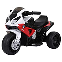 HOMCOM Compatible for Electric Kids Ride on Motorcycle w/ Headlights Music Battery Powered Play Bike 6V Two Colours BMW S1000RR
