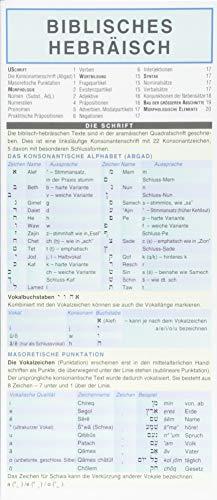 Biblisches Hebräisch - Kurzgrammatik. Die komplette Grammatik anschaulich und verständlich dargestellt