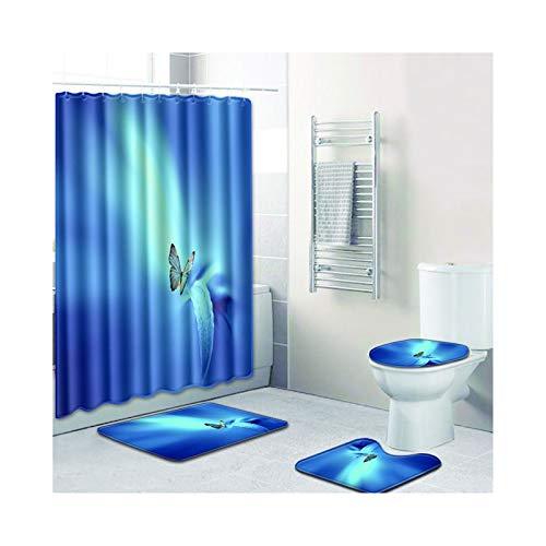 Knbob Badteppich 8 Teilig Schmetterlingsdruck Stil 03 Wc Teppich Toilette 50X80Cm -