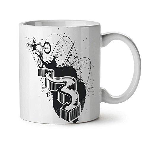 Epic BMX Stunt Man New White Tea Coffee Mug 11 oz