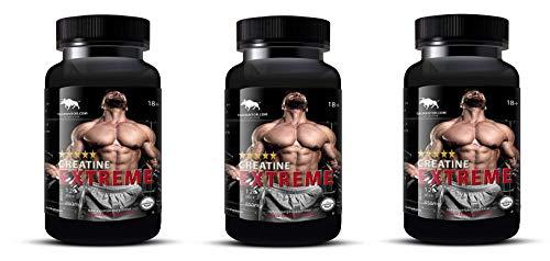 Creatine Extreme (Creatine Alkalyn) . Kreatin, creatin zum Hammerpreis Muskelmasse Kraft Anabolika Eiweis (3 Dosen)) -