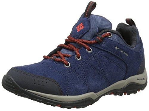 Columbia Fire Venture Waterproof, Zapatillas de Senderismo para Mujer, Azul (ZincRed Canyon), 40 EU