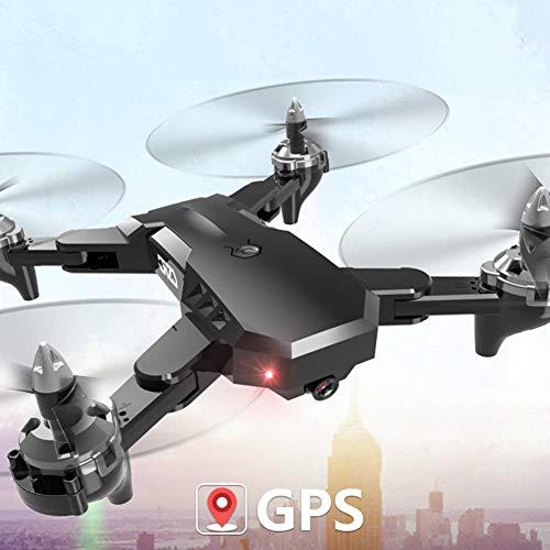 globalqi 4K Folding GPS Drone, Luftfotografie Doppel Intelligent Precision Positioning Return Vier-Achsen-CS-7 Fernbedienung Flugzeug