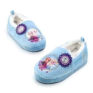 Chaussons chaud intérieur pour enfants La Elsa Anna de Reine des Neiges pour enfants - taille UK 13 - 1 ---- EU 32 - 33