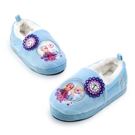 Original Authentic Disney Frozen -- Il Regno di Ghiaccio - Elsa, Anna Scarpe calde / casa pistone dell'interno - ragazza Taglia EU 27 - 28 --- UK 9 - 10