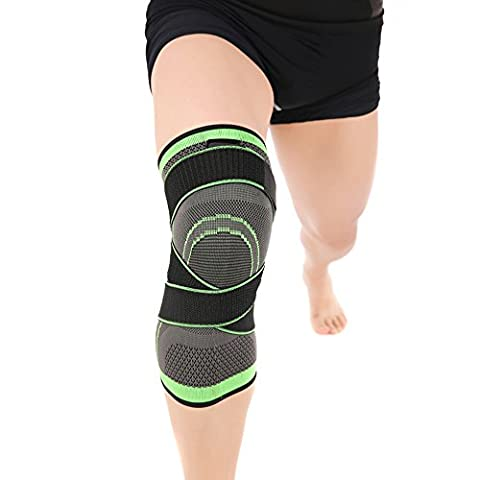 (1 Pair) 3D Weaving Pressurization Knee Sleeve for Sports - for Joint Pain Relief, Arthritis and Injury Recovery - MIMINUO Professional Protective Sports Knee Pad - Knee Brace - Wear Anywhere