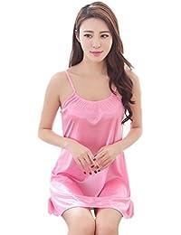 Binhee Pijama De Mujer Summer Ice Silk Halter Mujer Camisón Ropa