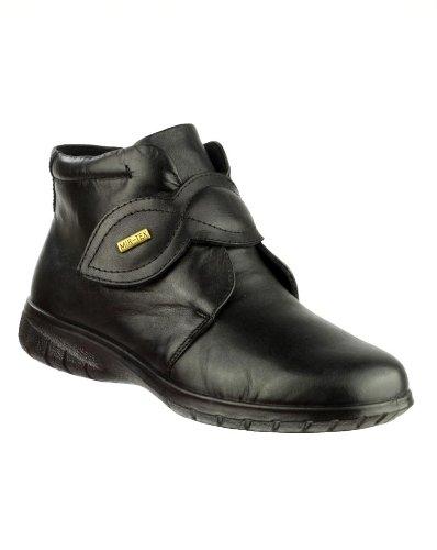 New Cotswold Tew Damen w-p Schuhe Polyurethan Sohle Erwachsene Schlupfhalsband Ankle Booties Schwarz