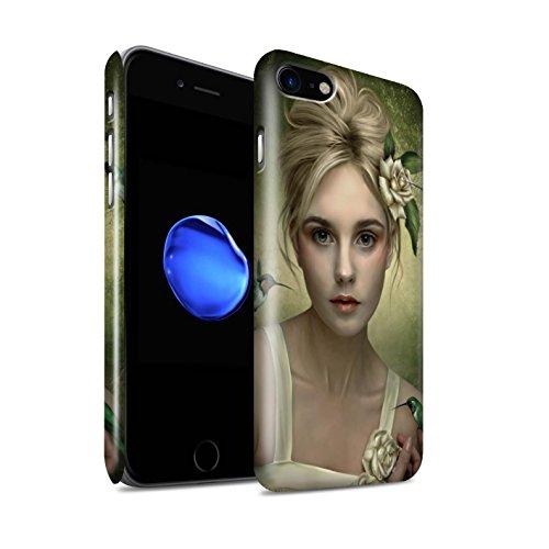 Officiel Elena Dudina Coque / Clipser Brillant Etui pour Apple iPhone 8 / Coucher Soleil Design / Les Oiseaux Collection Colibries/Des Roses