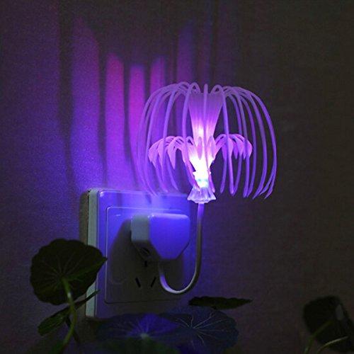 MaMaison007 Intelligente operato luce LED Santo albero semi notte luce Lava Lamp