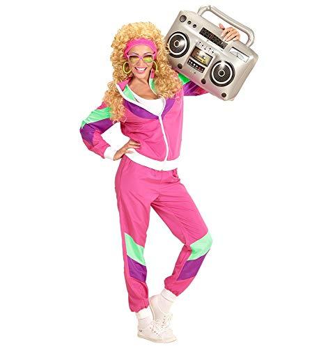 80er Jahre DAMEN Trainingsanzug Kostüm Assi Achtziger Asi Trash Bad Taste, - Moderne Aerobic Kostüm