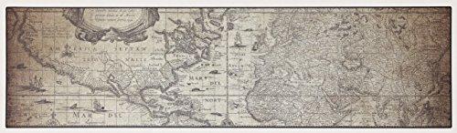 Viva tappeti vista vn04 traveler tappeto, pvc-poliestere, beige, 150 x 100 cm