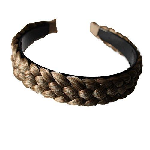 n mit geflochtenem Zopf Haarteil Haarband Kopfschmuck Haarschmuck HR3 ()