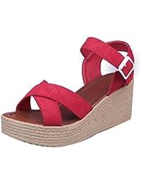 Sandalias de vestir, Culater Zapatos mujer plataforma bajos Zapatillas