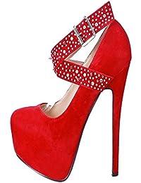 Calaier Mujer Cadelicious Tacón De Aguja 16CM Sintético Hebilla Zapatos de tacón