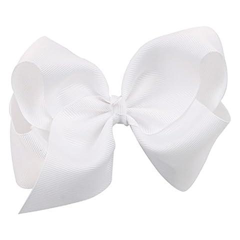 QHGstore 12cm Nettes Haar Bogen Baby Kleinkind scherzt Bowknot Klipp Band Stirnbänder Weiß