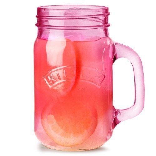 Kilner KIL PINK Handled JAR 0.4 Litre Glas Punch Cup