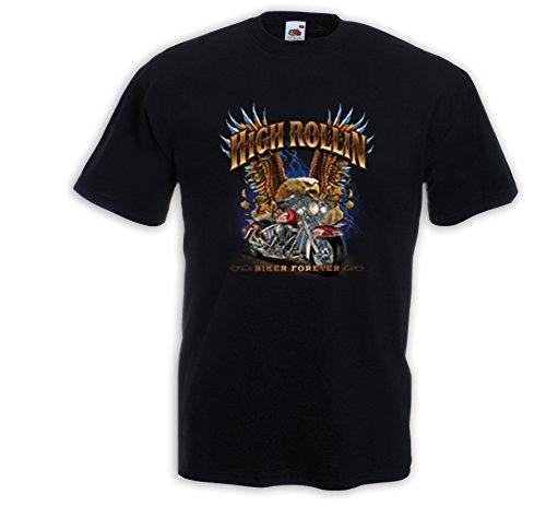 biker-maglietta-high-rollin-eagle-chopper-motorcycle-rockabilly-usa-adler-grs