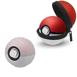 Thlevel Tasche für Poke Ball Plus Hülle Tragetasche + Kunststoff Schutzhülle für Pokémon Let's Go Pikachu Eevee Spiel, Schutzhüllen für Nintendo Switch
