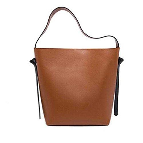 Frauen Große Kapazität Eimer Tasche Leder Einkaufstasche Umhängetasche D