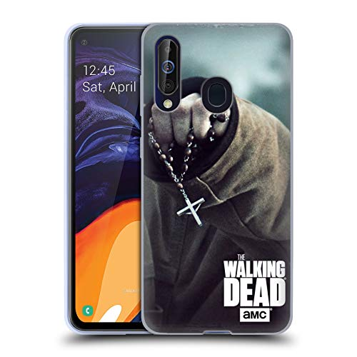 Head Case Designs Offizielle AMC The Walking Dead Rosenkranz Schlüssel Kunst Soft Gel Huelle kompatibel mit Samsung Galaxy A60 (2019) - In Der Kunst Der Rosenkranz